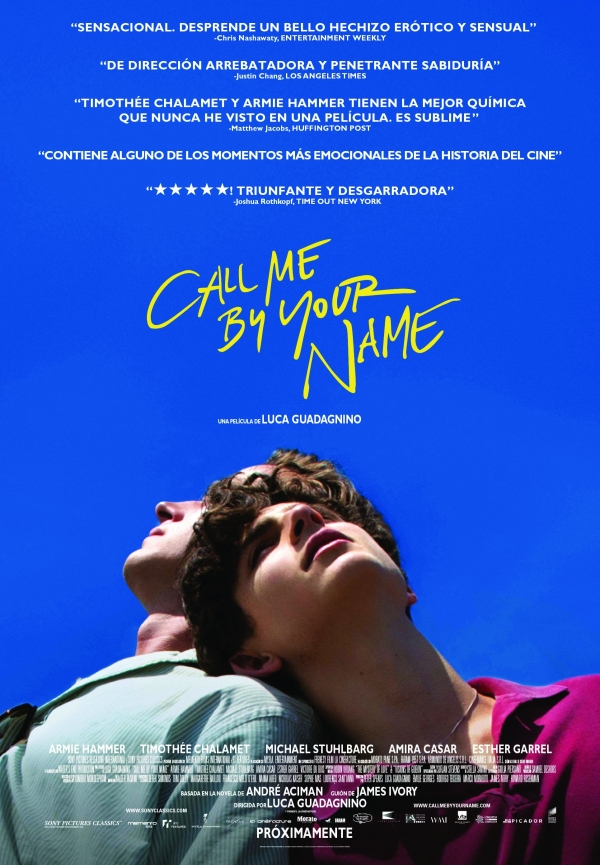 [Oscars] El amor es esto: Hay que ir a ver Call me by your name